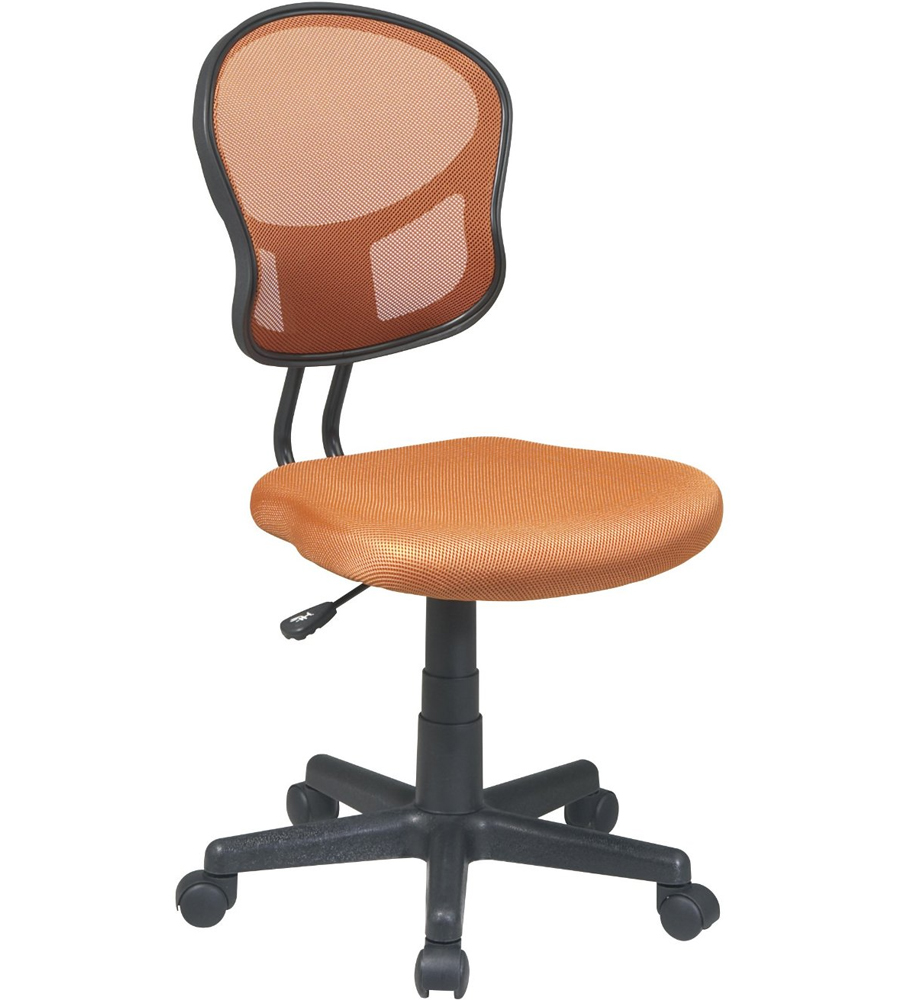 Mesh Rolling Computer Chair in Armless Office Chairs. Fabric Computer Chair. Home Design Ideas